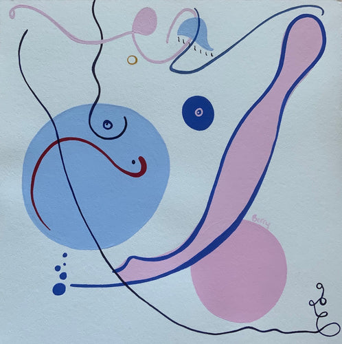 Quarantine Curves 2 | Venetia Berry | Acrylic on Hahnemuhle Paper | Partnership Editions