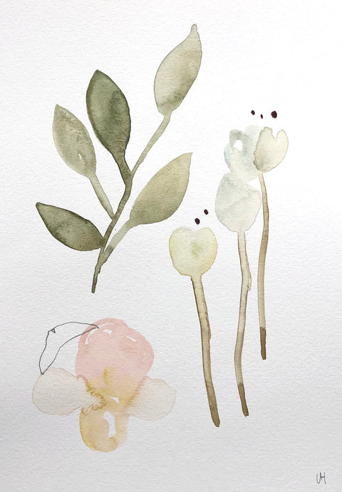 Quiet Painting I | Lisa Hardy | Watercolour and Pencil | Partnership Editions