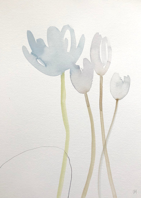 Quiet Painting VIII | Lisa Hardy | Watercolour and Pencil | Partnership Editions