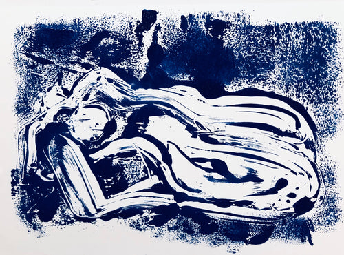 Reclined Monoprint 3 | Alexandria Coe | Original Artwork | Partnership Editions