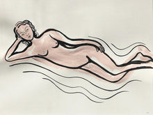 Load image into Gallery viewer, Reclining Nude in pink | Frances Costelloe | Original Artwork | Partnership Editions