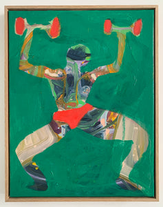 Red Dumbbells and Pants | Isabelle Hayman | OIl on Canvas | Partnership Editions