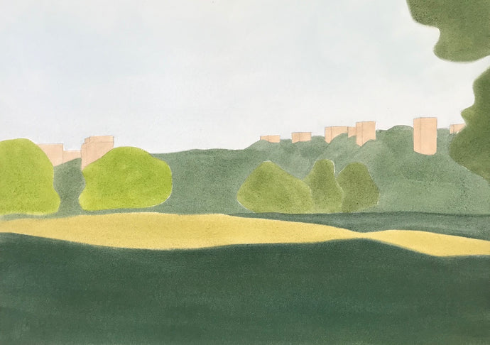 Roehampton from Richmond Park | Christabel Blackburn | Original Artwork | Partnership Editions
