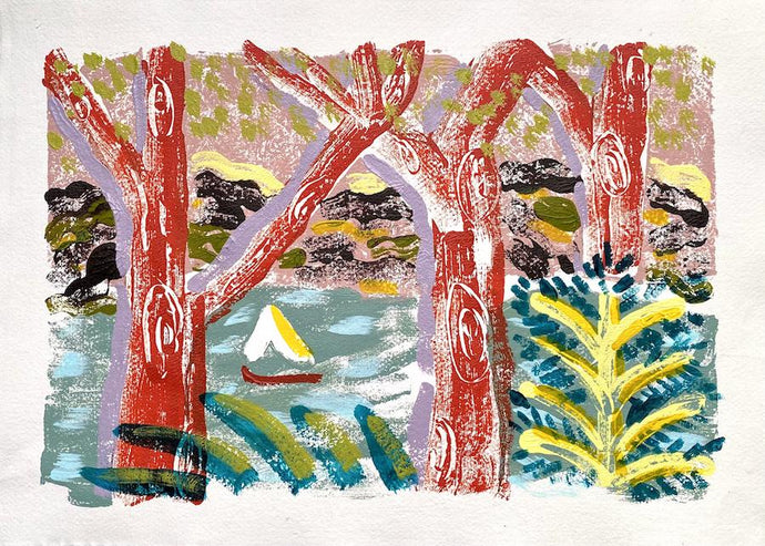 Salcombe View III | Camilla Perkins | Original Artwork | Partnership Editions