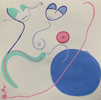 Shapely Shapes 10 | Venetia Berry | Original Artwork | Partnership Editions