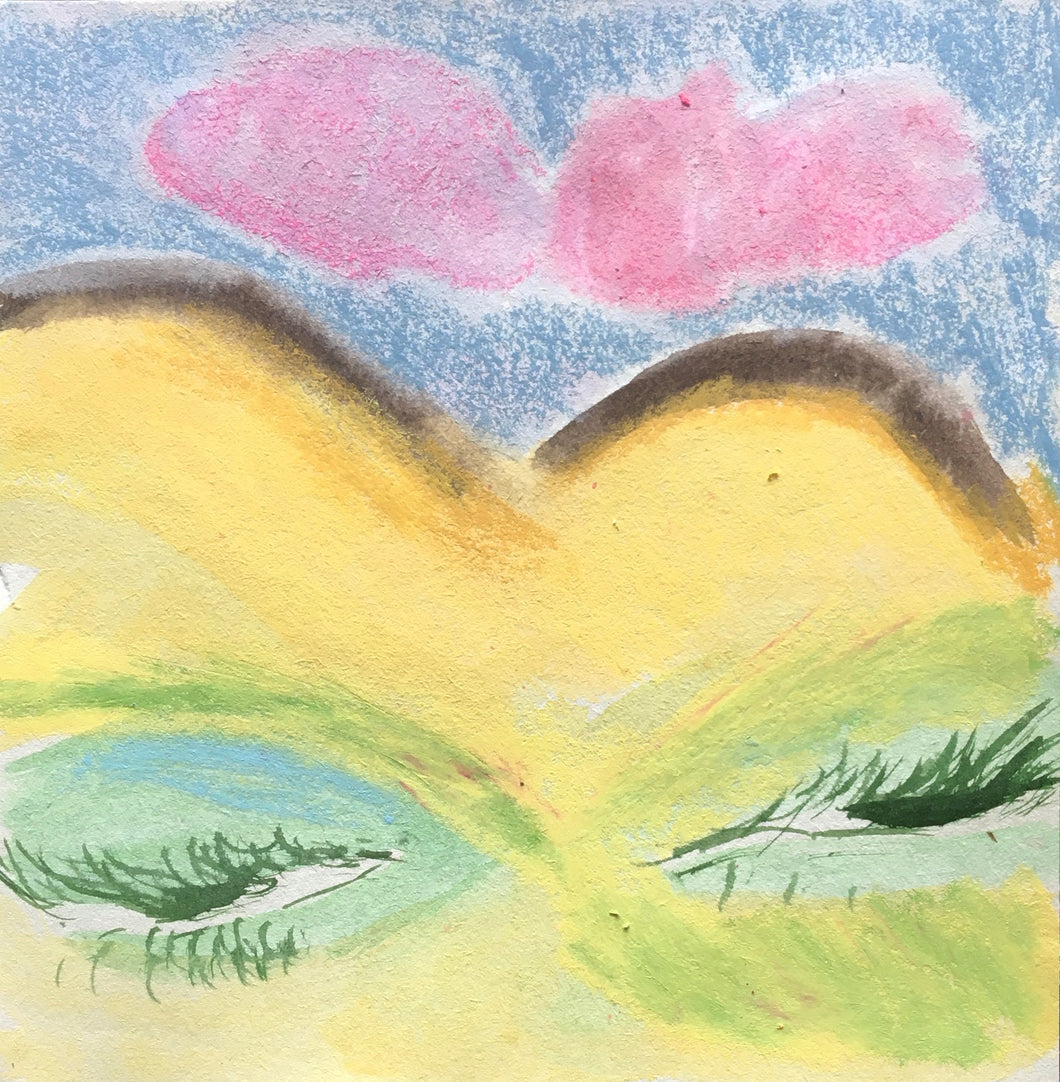Sleepy Landscape | Chica Seal | Watercolour an Crayon | Partnership Editions