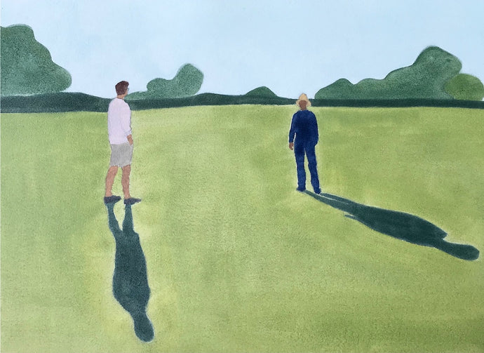 Social Distancing in the Park | Christabel Blackburn | Original Artwork | Partnership Editions