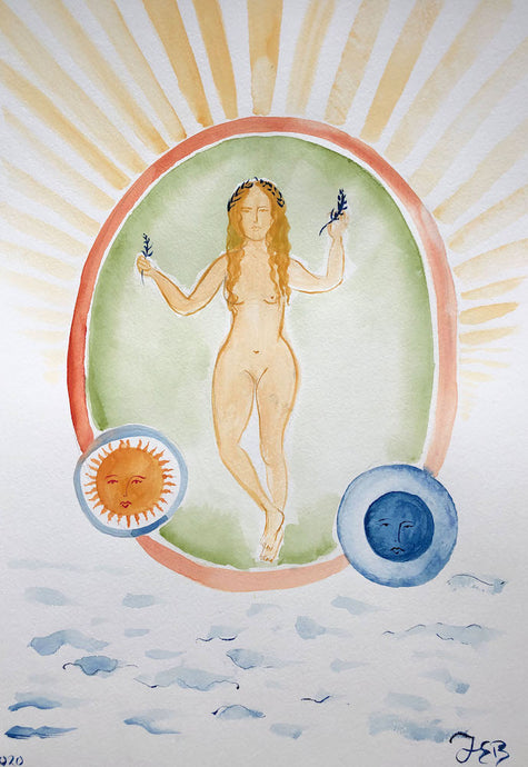 Sun Sea Goddess | Juliann Byrne | Original Artwork | Gouache on Paper | Partnership Editions