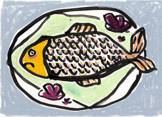 The Sea Food Menu | Isabella Cotier | Original Artwork | Partnership Editions