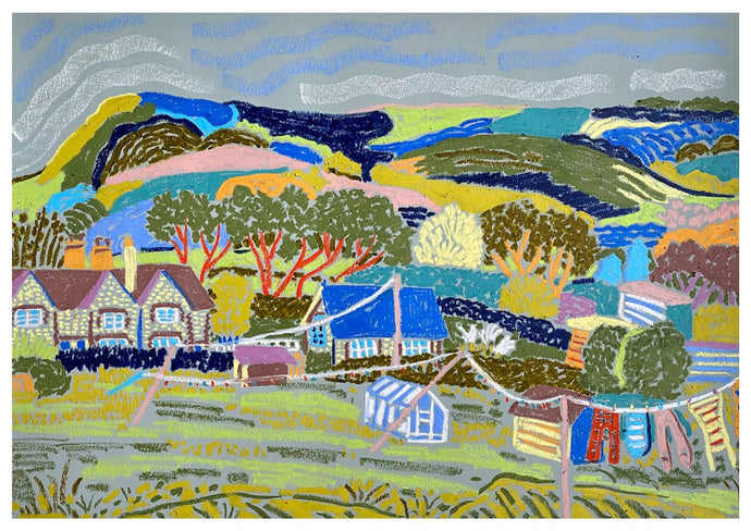 The Allotments at Glynde | Camilla Perkins | Original Artwork| Partnership Editions