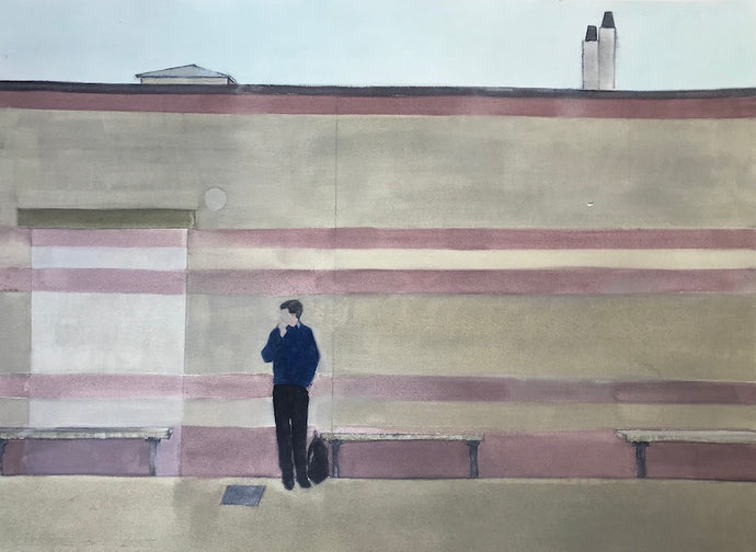 Waiting | Christabel Blackburn | Oil on Arches Huile Paper | Partnership Editions