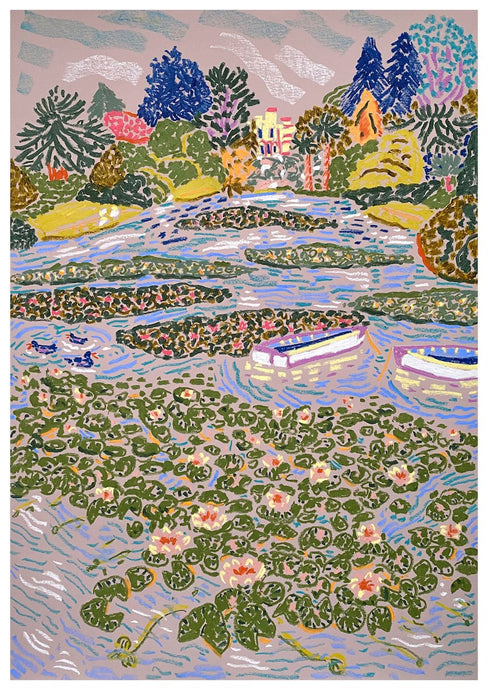 Water Lilies at Sheffield Park | Camilla Perkins | Original Artwork| Partnership Editions