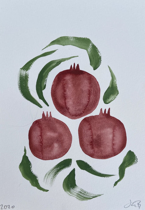 Winter Pomegranates I | Julianna Byrne | Original Artwork| Partnership Editions