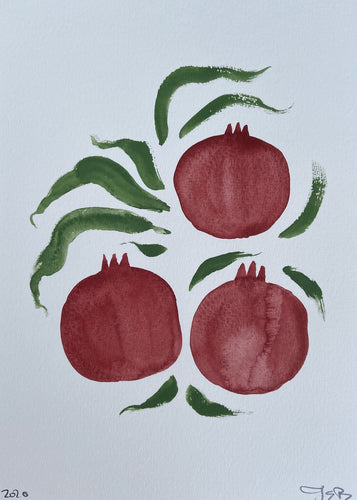 Winter Pomegranates II | Julianna Byrne | Original Artwork| Partnership Editions