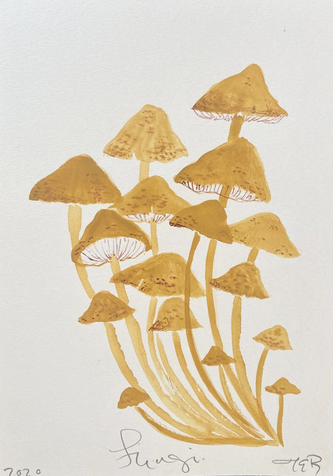 Yellow Fungi | Julianna Byrne | Original Artwork | Partnership Editions