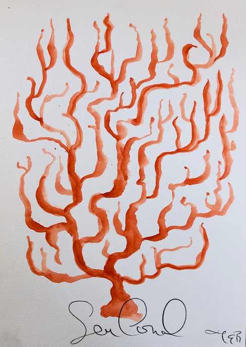 Coral XLVII | Juliann Byrne | Gouache on Paper | Partnership Editions
