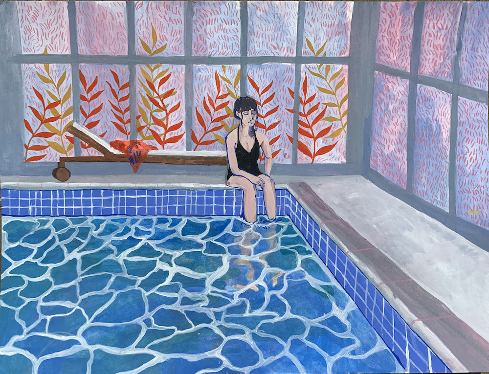 Poolside | Cecilia Reeve | Original Artwork | Partnership Editions