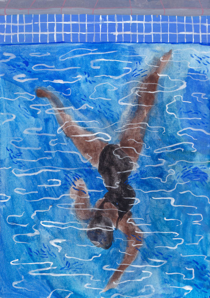 Swimmer I | Cecilia Reeve | Original Artwork | Partnership Editions