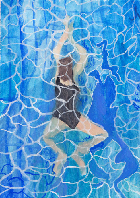 Swimmer II | Cecilia Reeve | Original Artwork | Partnership Editions