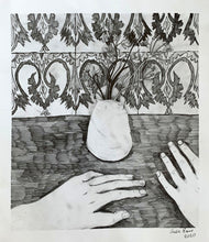 Load image into Gallery viewer, Two Hands and Some Bluebells | Cecilia Reeve | Pencil on Paper | Partnership Editions