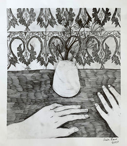 Two Hands and Some Bluebells | Cecilia Reeve | Pencil on Paper | Partnership Editions