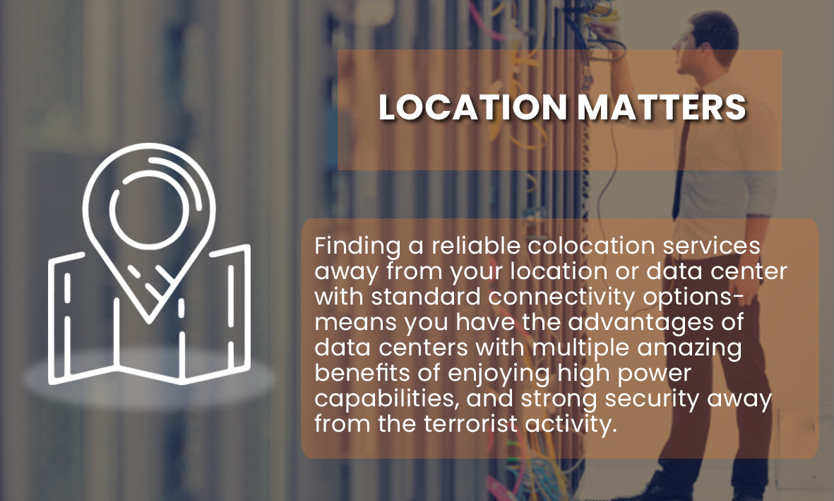Suitable location for data center, Server colocation