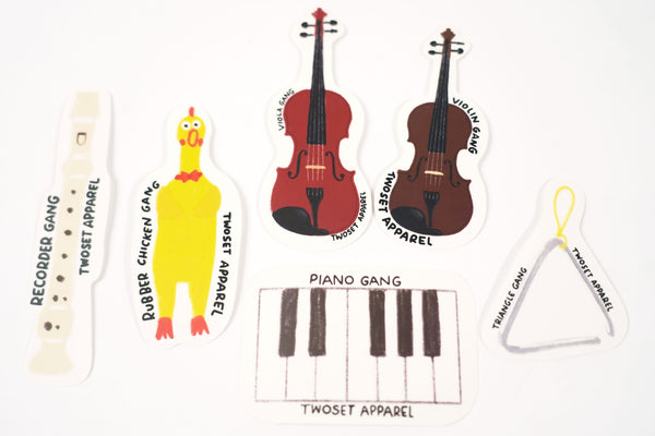 Instrument Gang Stickers