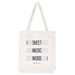 Sheet Music Inside Tote Bag TwoSet Apparel