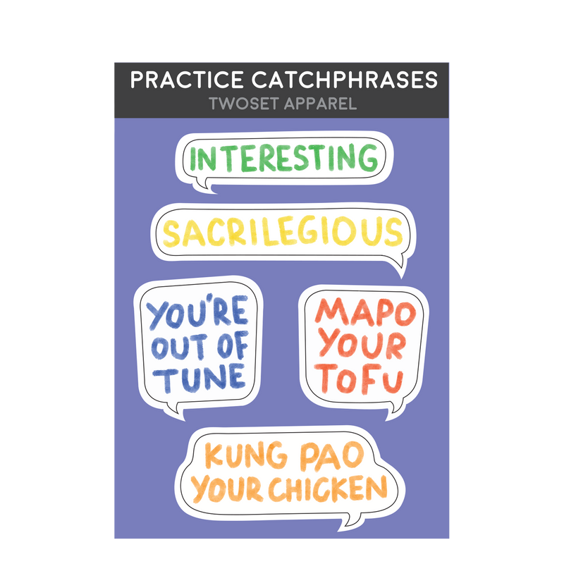 Practice Catchphrases Stickers