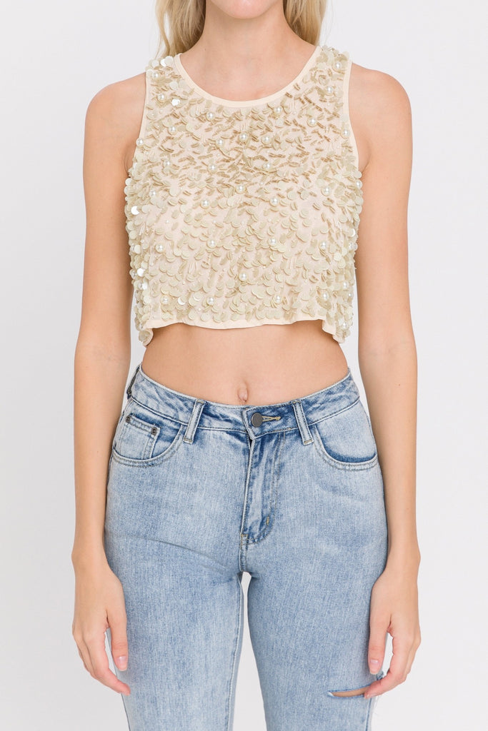 Flower Spangled Top