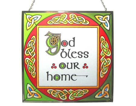 God Bless Our Home Square Panel