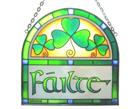 Failte - 16cm Arch - Stained Glass