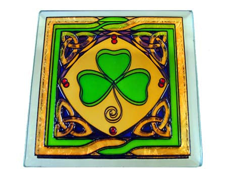 Shamrock Coaster - Stained Mirror