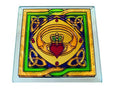 Claddagh Coaster - Stained Mirror