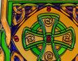 Celtic Cross Coaster - Stained Mirror