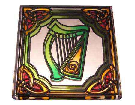 Harp Fridge Magnet - Stained Mirror
