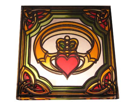 Claddagh Fridge Magnet - Stained Mirror