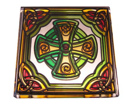 High Cross Fridge Magnet - Stained Mirror