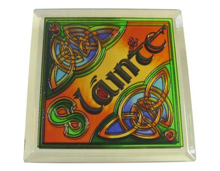 Slainte Coaster - Stained Mirror