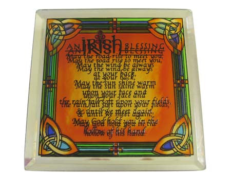 Irish Blessing Coaster - Stained Mirror
