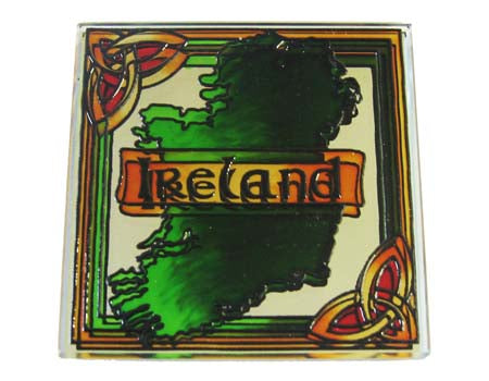 Ireland Map Fridge Magnet - Stained Mirror