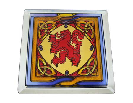 Rampant Lion Coaster - Stained Mirror