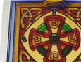 Celtic Cross Coaster Scotland - Stained Mirror