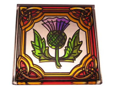 Thistle Fridge Magnet - Stained Mirror