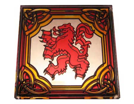 Rampant Lion Fridge Magnet - Stained Mirror