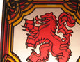 Lion Rampant Fridge Magnet - Stained Mirror