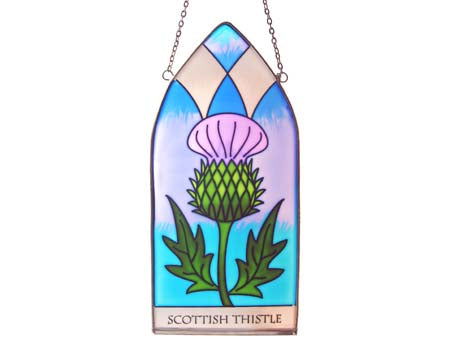 Scottish Thistle Gothic Panel