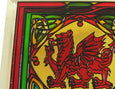 Welsh Dragon Coaster - Stained Mirror