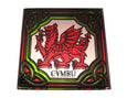 Welsh Dragon Fridge Magnet - Stained Mirror