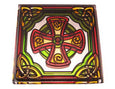 Welsh Cross Fridge Magnet - Stained Mirror
